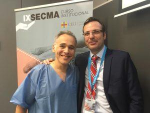 Dr. Fahandezh con Dr. Blanco.