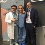 Dr. Fahandezh con Dr. Delgado y Dr. Blanco.